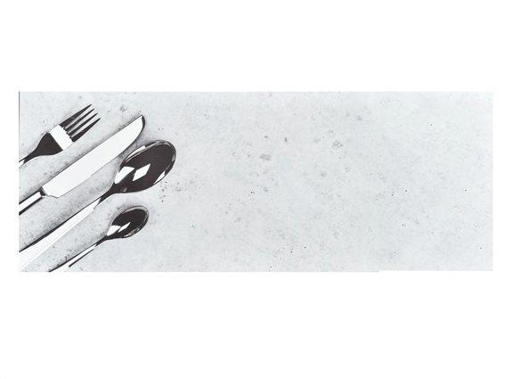Πατάκι Διάδρομος Κουζίνας με σχέδιο Μαχαιροπίρουνα, 50x130cm, Bistrot