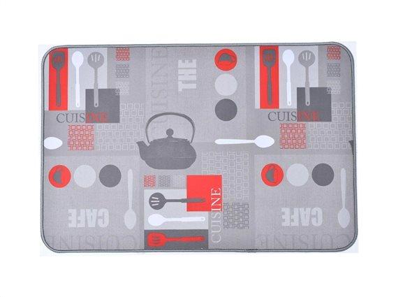 Πατάκι χαλάκι κουζίνας με σχέδιο αξεσουάρ κουζίνας, 50x80 cm, Kitchen mat Utensils