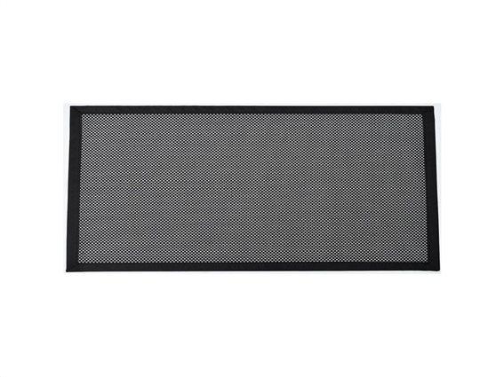 Πατάκι χαλάκι κουζίνας με πλέξη σε μαύρο και λευκό χρώμα, 50x80 cm, Kitchen mat Black