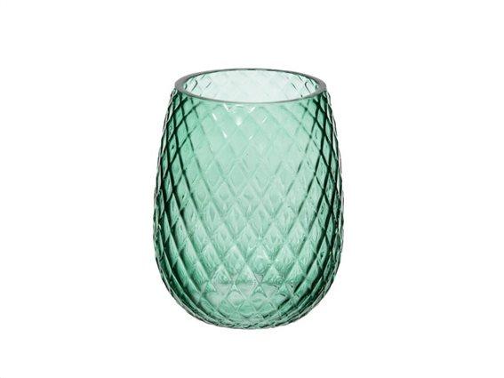 Γυάλινο Δοχείο Μπάνιου για Οδοντόβουρτσες σε πράσινο χρώμα, 8.50x10.5 cm