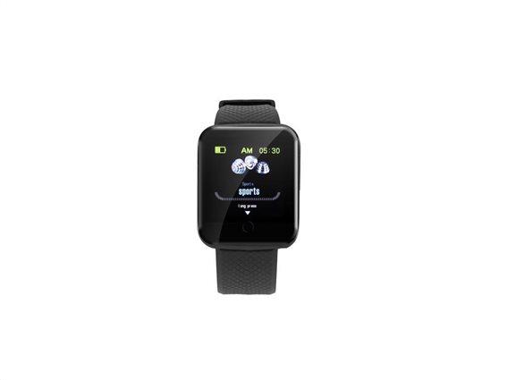 Ρολόι Bluetooth Smartwatch, Tracker με πολλές λειτουργίες συμβατό με Android & iOS, σε μαύρο χρώμα