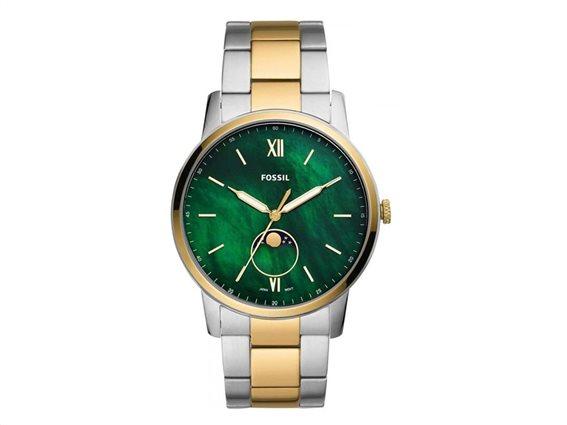Fossil Αντρικό Ρολόι χειρός 44mm,  Ασημί χρώμα, The Minimalist, FS5572