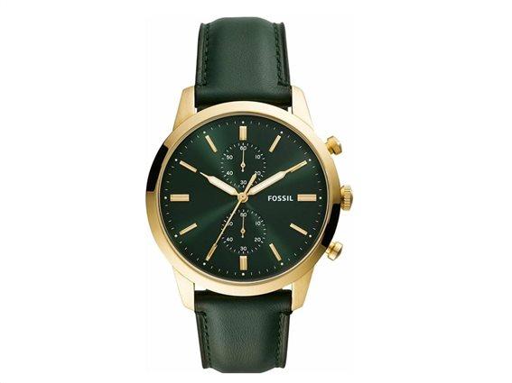 Fossil Αντρικό Ρολόι χειρός 44mm, σε πράσινο χρώμα, Townsman Green, FS5599