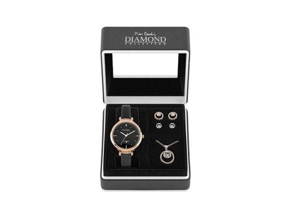 Pierre Cardin PCDX7903L7 Σετ συλλογή Κοσμημάτων με Γυναικείο Ρολόι, Gift set