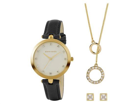 Pierre Cardin PCX7605L308 Σετ συλλογή Κοσμημάτων με Γυναικείο Ρολόι, Gift set