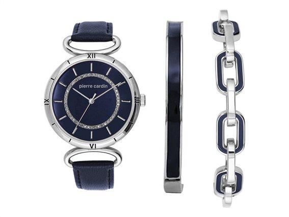 Pierre Cardin PCX5760L252 Σετ συλλογή Κοσμημάτων με Γυναικείο Ρολόι, Gift set