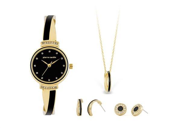 Pierre Cardin PCX6855L297 Σετ συλλογή Κοσμημάτων με Γυναικείο Ρολόι, Gift set