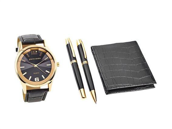 Pierre Cardin PCX7870EMI Σετ Δώρου με Ρολόι, στυλό και πορτοφόλι σε συσκευασία δώρου, Gift set