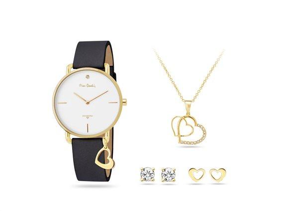 Pierre Cardin PCDX8464L23 Σετ συλλογή Κοσμημάτων με Γυναικείο Ρολόι, Gift set