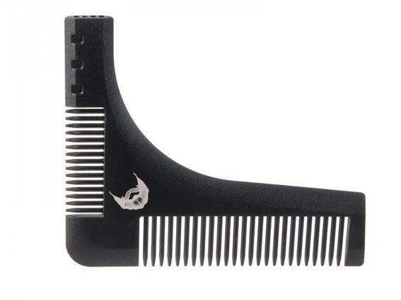 Βούρτσα για τα μούσια, χτένα διαμόρφωσης γενειάδας σε μαύρο χρώμα, 15x0.3 cm, Beard shaper