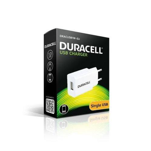 Φορτιστής Ταξιδίου Duracell με 'Εξοδο USB 1.0A Λευκό