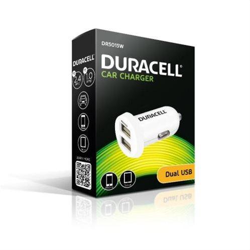 Φορτιστής Αυτοκινήτου Duracell με Διπλή Έξοδο USB 3.4A Λευκό