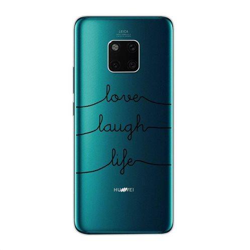 Θήκη TPU inos Huawei Mate 20 Art Theme Love-Laugh-Life