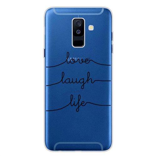 Θήκη TPU inos Samsung A605F Galaxy A6 Plus (2018) Art Theme Love-Laugh-Life
