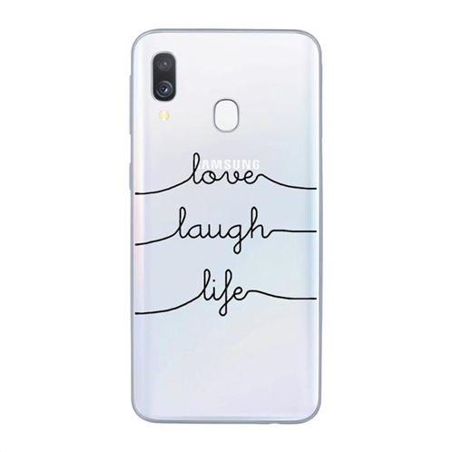 Θήκη TPU inos Samsung A405F Galaxy A40 Art Theme Love-Laugh-Life