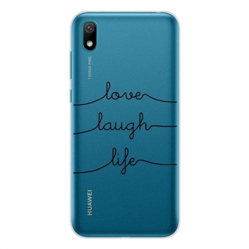 Θήκη TPU inos Huawei Y5 (2019)/ Honor 8S/ Honor 8S (2020) Art Theme Love-Laugh-Life