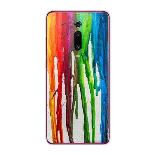 Θήκη TPU inos Xiaomi Mi 9T/ Mi 9T Pro Art Theme Vertical Watercolor