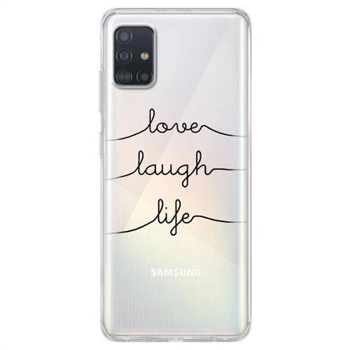 Θήκη TPU inos Samsung A515F Galaxy A51 Art Theme Love-Laugh-Life