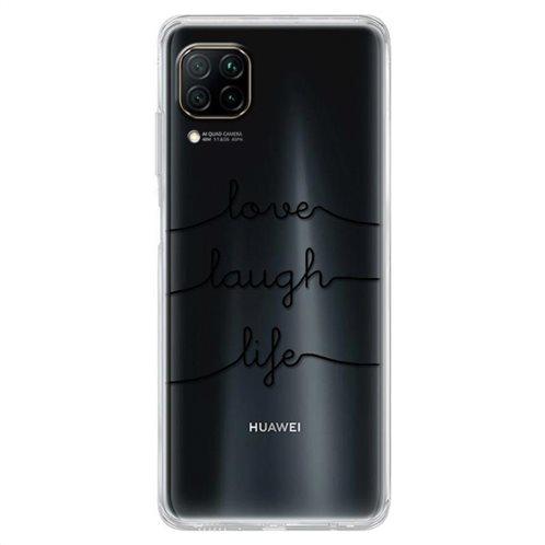 Θήκη TPU inos Huawei P40 Lite Art Theme Love-Laugh-Life