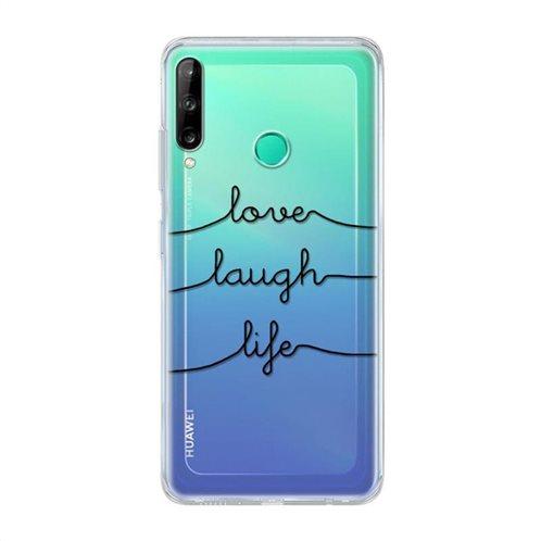 Θήκη TPU inos Huawei P40 Lite E Art Theme Love-Laugh-Life