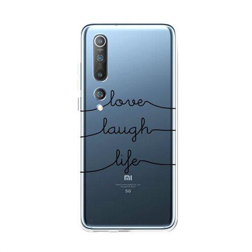 Θήκη TPU inos Xiaomi Mi 10 5G/ Mi 10 Pro 5G Art Theme Love-Laugh-Life