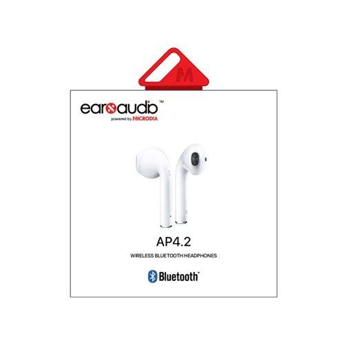 Ασύρματα Ακουστικά Bluetooth Earbuds Microdia earXaudio AP4.2 Λευκό