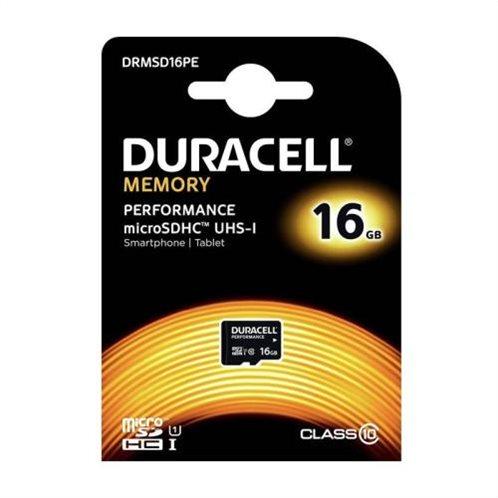 Κάρτα μνήμης Micro SDHC C10 UHS-I U1 Performance Duracell 80MB/s 16Gb