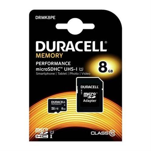 Κάρτα μνήμης Micro SDHC C10 UHS-I U1 Performance Duracell 95MB/s 8Gb + 1ADP