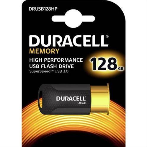 USB 3.1 Flash Disk Duracell Professional 128GB 200MB/s Μαύρο-Χρυσό