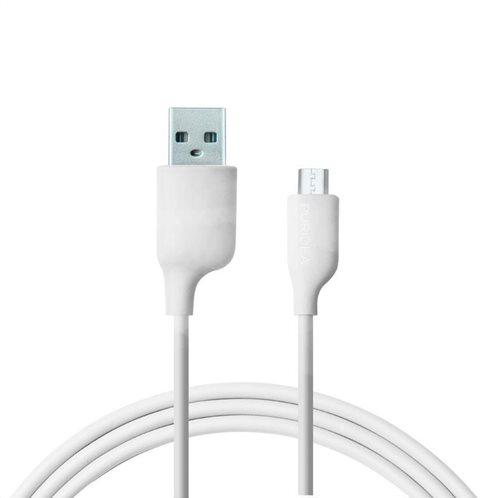 Καλώδιο Σύνδεσης USB 2.0 Puridea L02 USB A σε Micro USB 2.4A 1.2m Λευκό