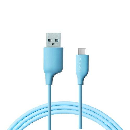 Καλώδιο Σύνδεσης USB 2.0 Puridea L02 USB A σε USB C 2.4A 1.2m Γαλάζιο