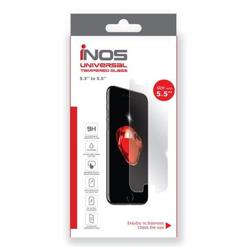 Tempered Glass Universal inos 9H 0.33mm για Οθόνες 5.5'' (142.64 x 72.08mm) (1 τεμ.)
