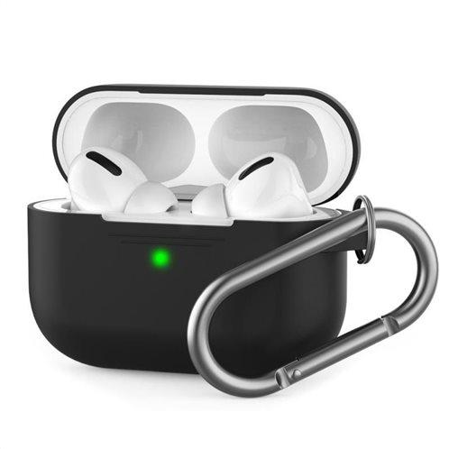 Θήκη Σιλικόνης AhaStyle PT-P1 Apple AirPods Pro Premium με Γάντζο Μαύρο