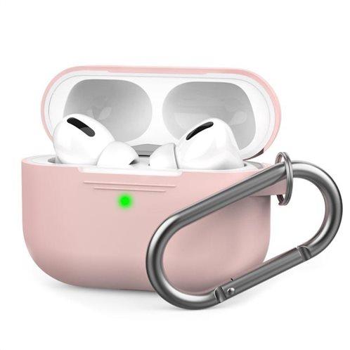 Θήκη Σιλικόνης AhaStyle PT-P1 Apple AirPods Pro Premium με Γάντζο Ροζ
