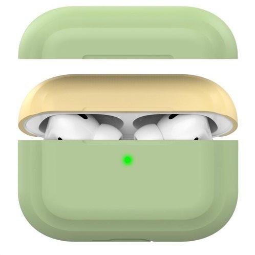 Θήκη Σιλικόνης AhaStyle PT-P2 Apple AirPods Pro DuoTone Φυστικί-Κίτρινο