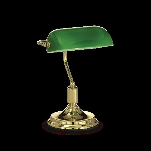 Ideal Lux Φωτιστικό Επιτραπέζιο - Γραφείου Μονόφωτο LAWYER TL1 OTTONE 013657