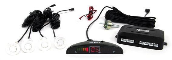 AMIO σύστημα παρκαρίσματος 01566 4 λευκοί αισθητήρες LED indicator