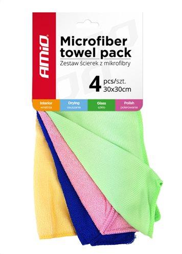 AMIO πανάκια καθαρισμού από μικροΐνες 01983 30 x 30cm 4τμχ