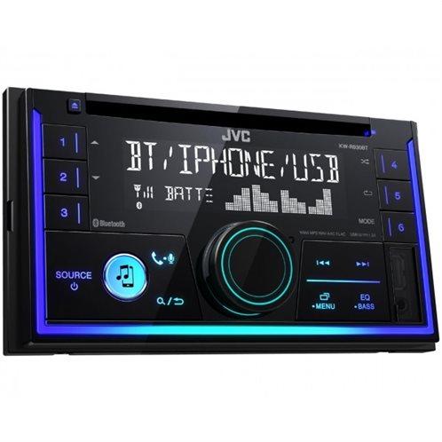 JVC Δέκτης ΡάδιοCD 2-DIN Bluetooth με μπροστινή είσοδο USB / AUX 4x50W