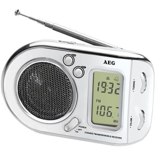 AEG Φορητό ραδιόφωνο με ξυπνητήρι WE 4125 WHITE