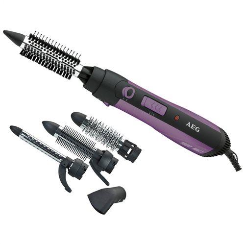 AEG Ηλεκτρική βούρτσα, ψαλίδι μαλλιών για μπούκλες και στεγνωτήρας μαλλιών, 1000W. HAS 5582 PURPLE