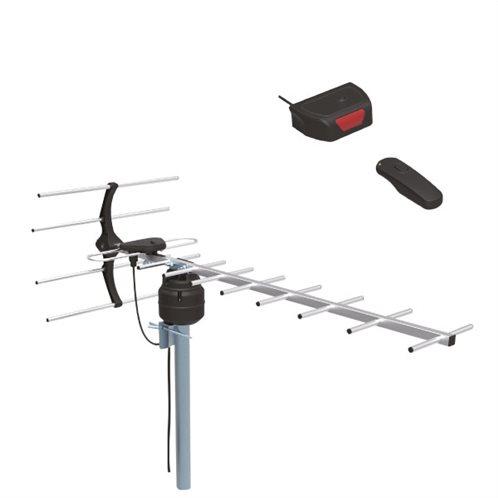 TELCO ΕΞΩΤΕΡΙΚΗ ΚΕΡΑΙΑ UHF-107(R)  ΜΕ CONTROL 30 dB ΜΑΥΡΗ