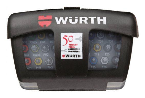 Würth Σετ μύτες mix σε θήκη με αντάπτορες 31 τεμάχια