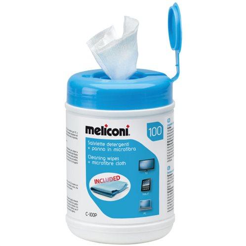 MELICONI Μαντηλάκια καθαρισμού, C-100P WIPES 100pcs