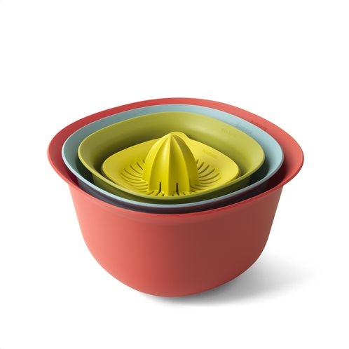 Brabantia Μπολ-Σουρωτήρι-Μεζούρα-Στίφτης Σετ 4τεμ. 3,2lt. 1,5lt. Tasty Colours