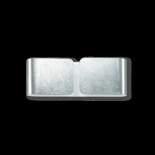 Ideal Lux Φωτιστικό Τοίχου - Απλίκα Πολύφωτο CLIP AP2 MINI ARGENTO 091136