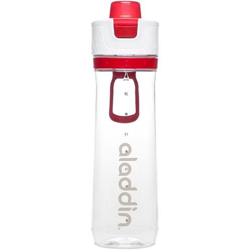 Aladdin Παγούρι 0.8lt Κόκκινο-Διάφανο Active Hydration Tracker