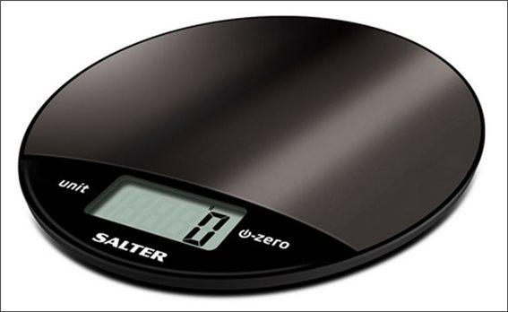 SALTER Ψηφιακή Ζυγαριά Κουζίνας 8kg Μαύρη 1059BKDR