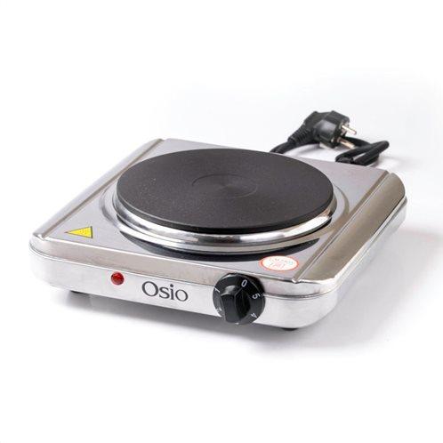 Osio OHP-2418 Μονή ηλεκτρική εστία κουζίνας inox 18.5 cm με θερμοστάτη 1500 W