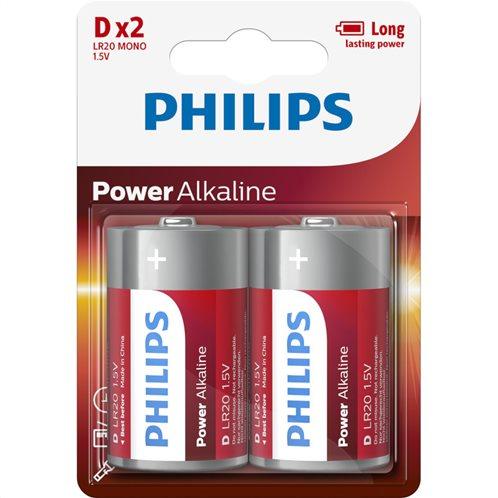 Philips LR20P2B/GRS Αλκαλικές μπαταρίες υψηλής απόδοσης 2 τμχ D